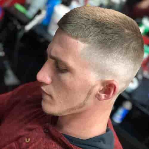 HIGH AND TIGHT FADE THIN CHIN STRAP BEARD