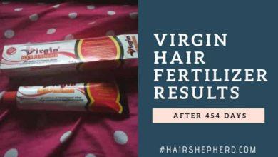Virgin hair fertilizer results