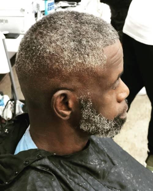 BLACK MAN BALD FADE HAIRCUT