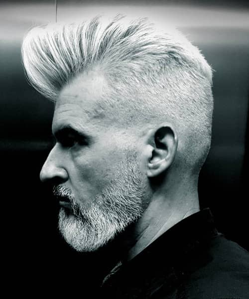 FAUXHAWK-SHORT HAIRCUTS FOR GRAY HAIR
