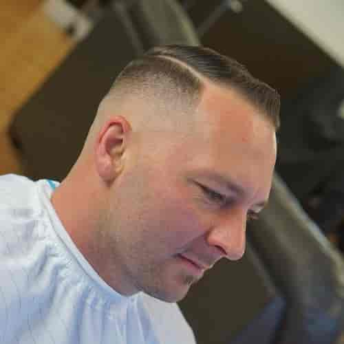 FLAT SLICKED HIGH AND TIGHT