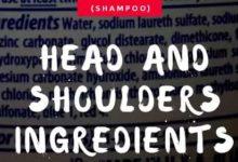 HEAD AND SHOULDERS INGREDIENTS