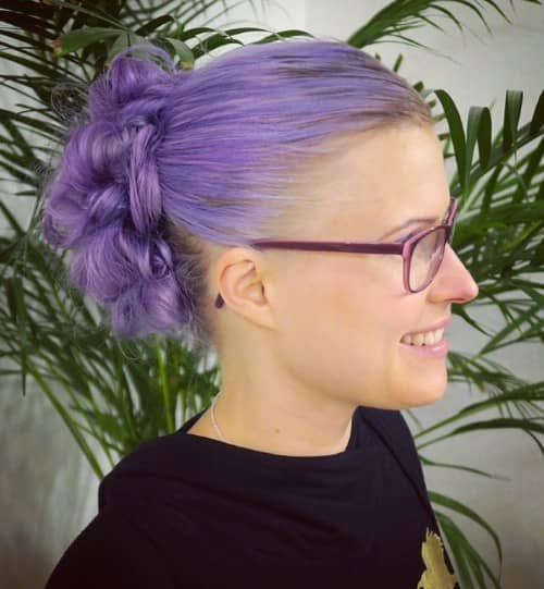 AMETHYST PURPLE HAIR COLOR