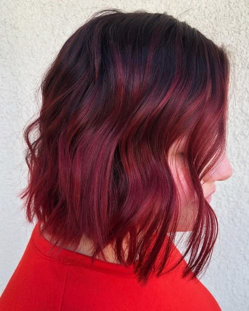 BIASED BLACK TO RED OMBRE