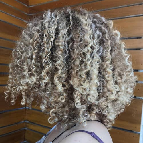 Silver Gray Curly Hair Color