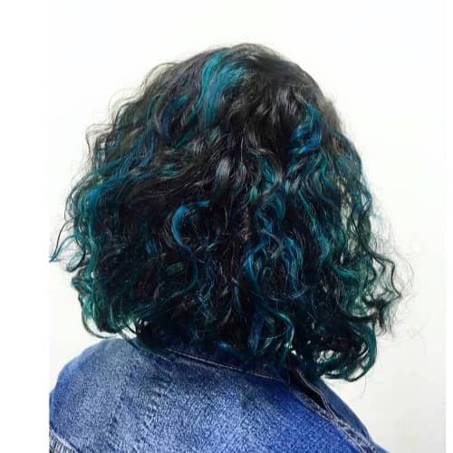 JUNGLE GREEN + BLUE HIGHLIGHTS