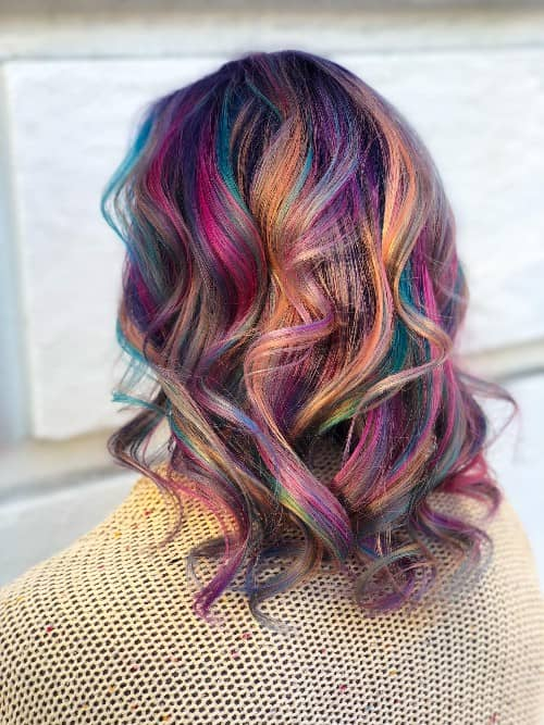 SILKY RAINBOW STRANDS COLOR