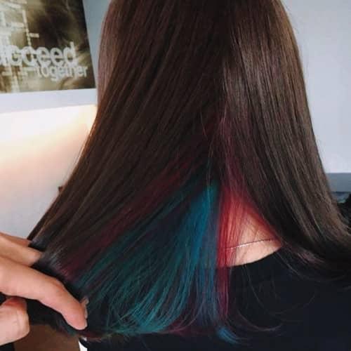 Underneath Color Idea For Brown Hair
