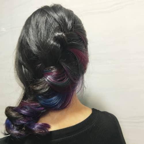Wine Red + Purple and Blue Underlight