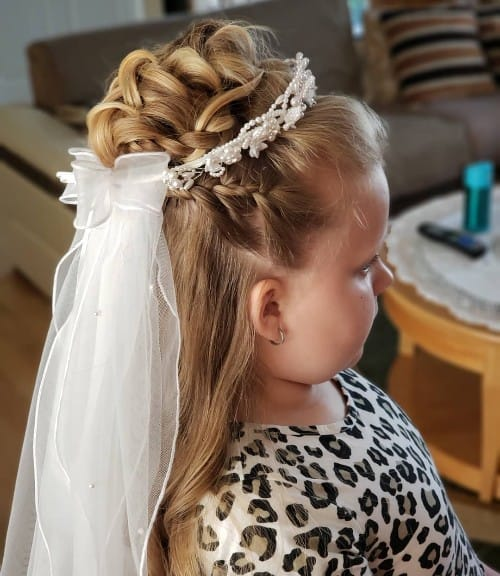 Crown Braid + Prom Stitch Bun