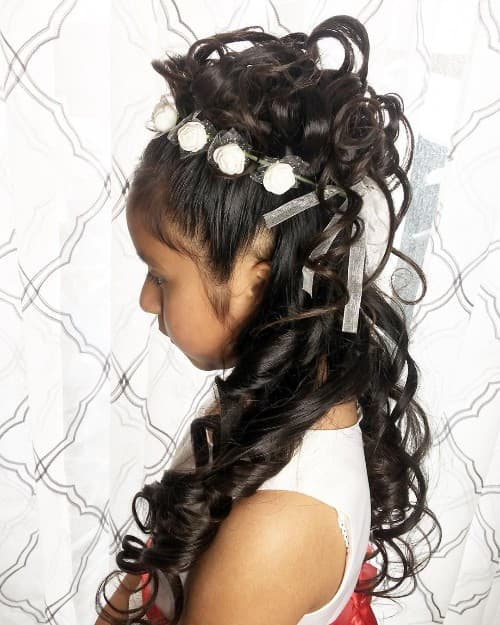 Wavy High Prom Updo For Long Hair Kids