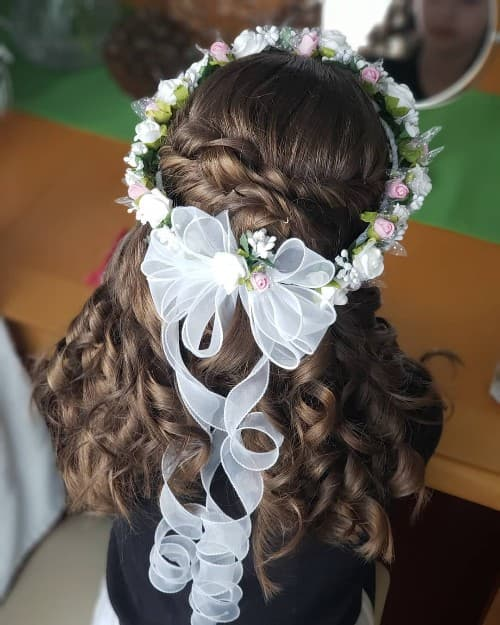 Curly and Twisted Updo For Long Hair