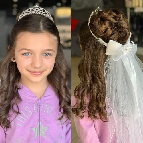 Holy Communion Classy Updo Hairstyle