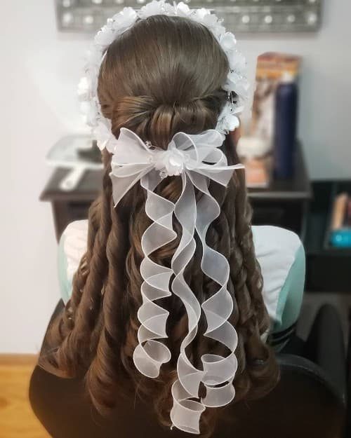 Wavy Updo For Long Hair
