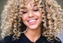 curly hair color ideas
