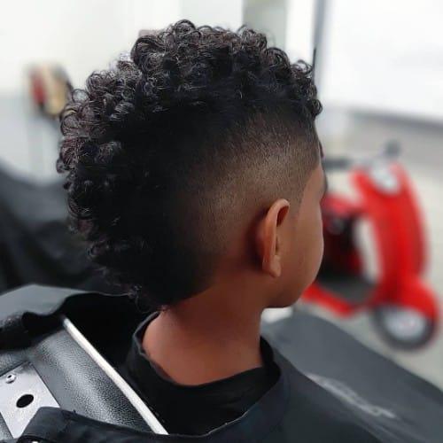 Black Kid Mohawk Cut