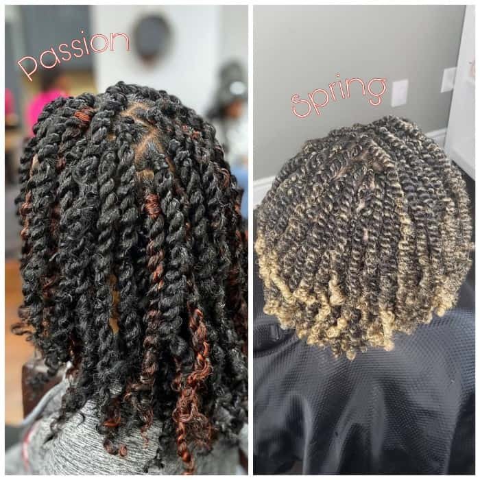 Short Spring Twists vs Short Passion Twists