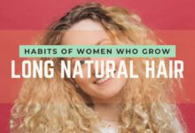 habits of women with long natural hair