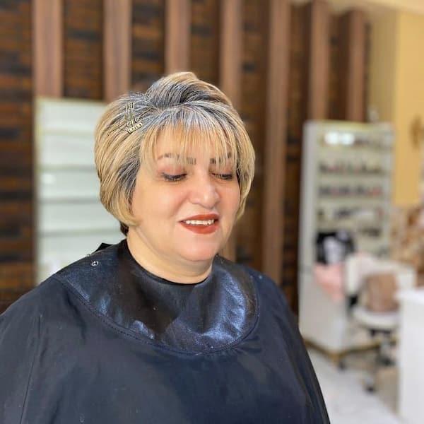 Older Women Bang Haircut