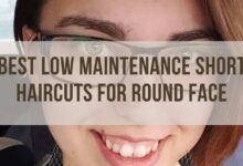 Low Maintenance short haircuts for round face