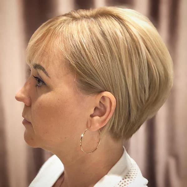 Blonde + Round Cut