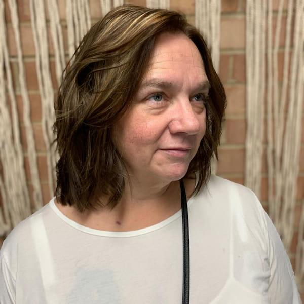 Older Women Medium Low Maintenance Haircut