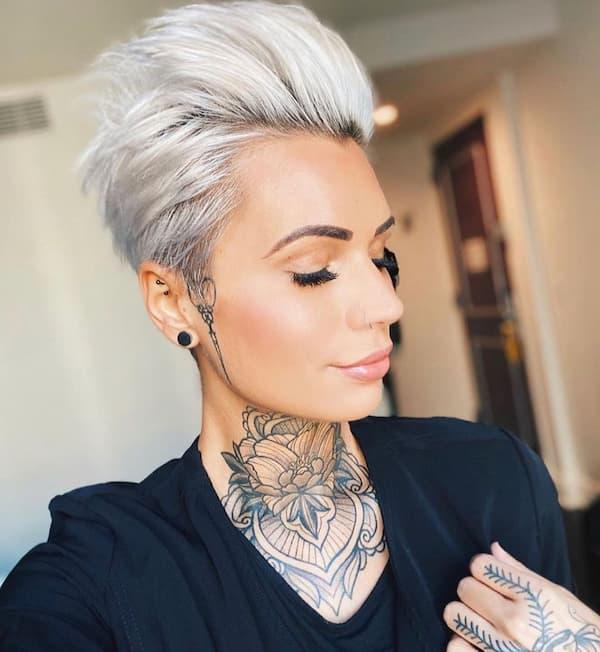 Pompadour Pixie haircut