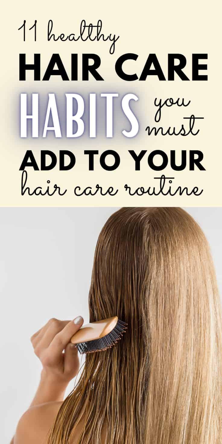 good hair care habits