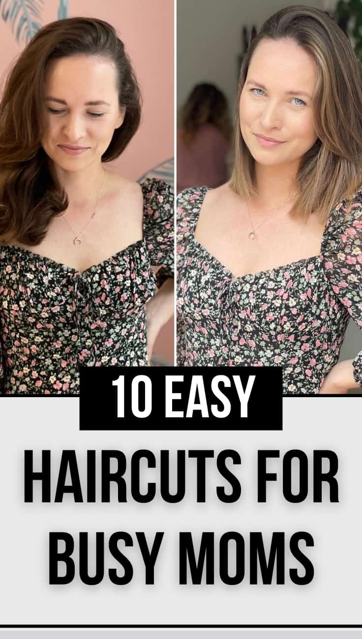easy low maintenance haircuts for busy moms