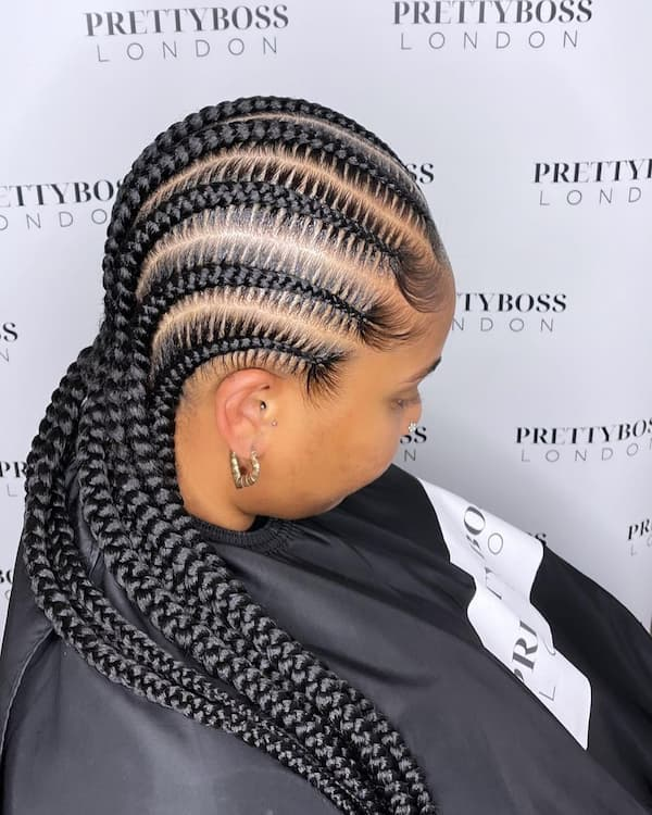 Feed-in Braid Hairstyle