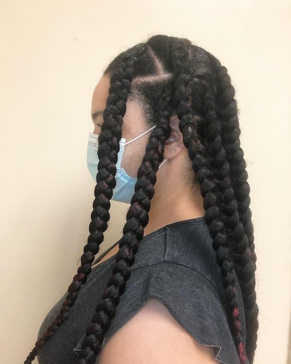 Jumbo Braid Hairstyle