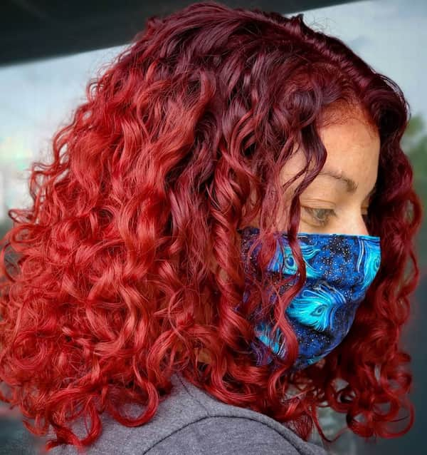 Red Ombre Curly Hair