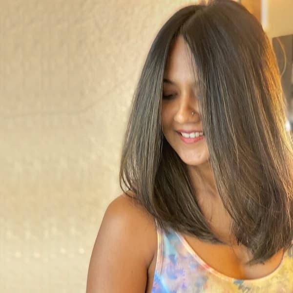 Thick Shoulder Length Haircut
