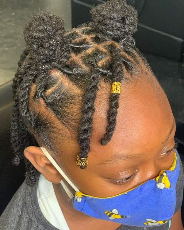 Two Strands Hairstyle