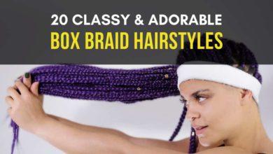 Adorable Box Braid Hairstyles