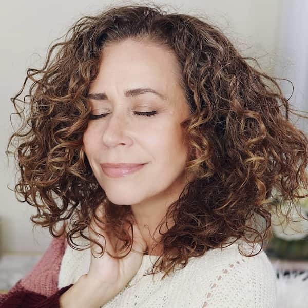 Deva Cut for Older Women with Curly Hair
