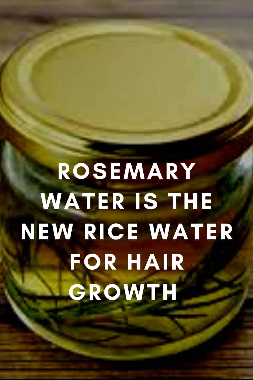 Grow Hair Healthy Hair With Rosemary Water