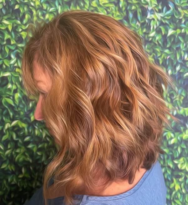 Layered Shoulder Length + Bangs Haircut