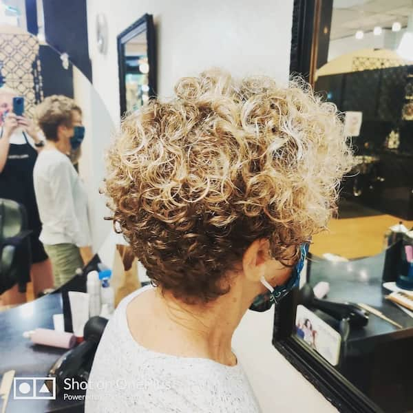 Sculpted Curly Pixie