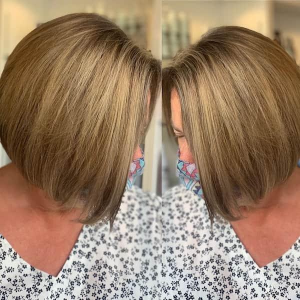 Tousled Bob Haircut for Straight Hair