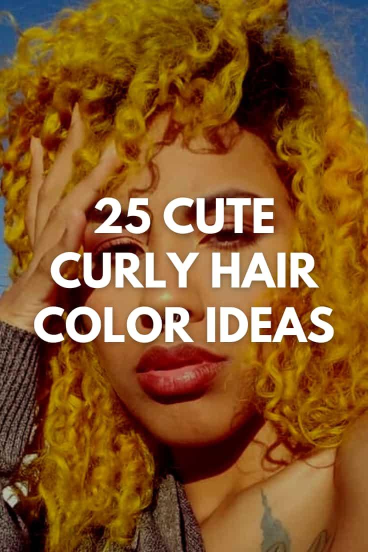 Cute Curly Hair Color Ideas