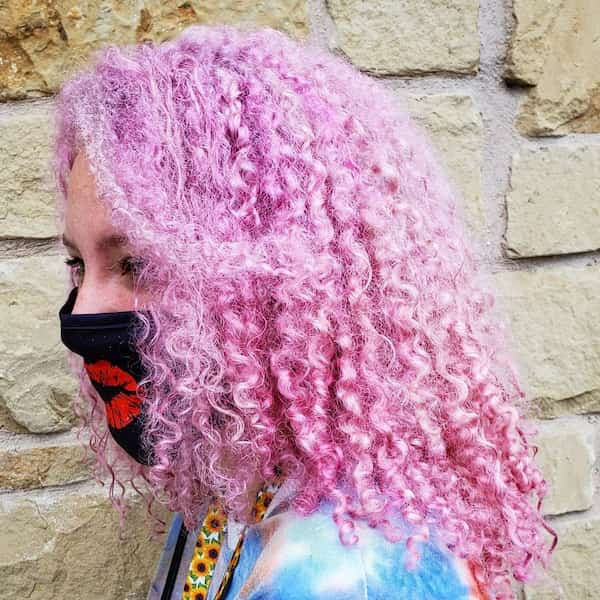 Pink Curly Hair Color